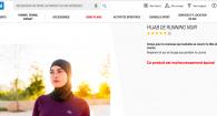 hijab running noir decatlon
