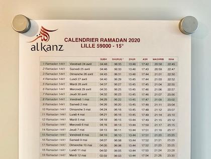 Calendrier Ramadan 2021 Saint Etienne Calendrier ramadan : téléchargez gratuitement celu ▷ Horaire