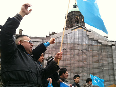 Uyghurs protesting