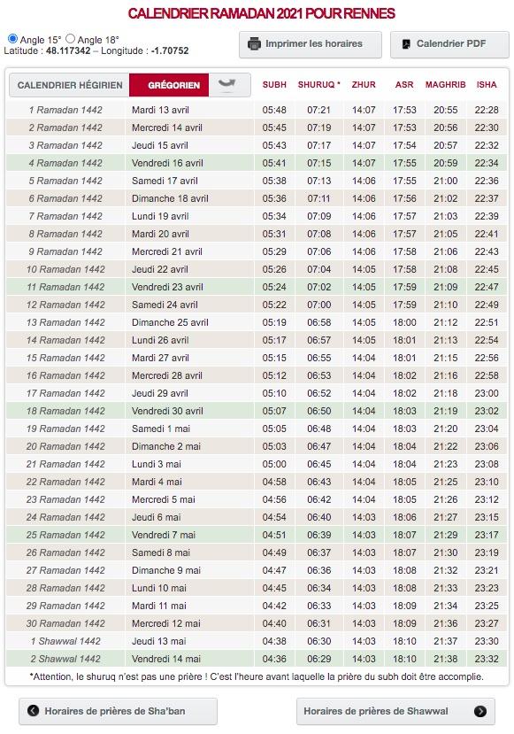 Ramadan 2022 Calendrier Calendrier ramadan : téléchargez gratuitement celui de votre ville